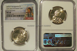 Click now to see the BUY IT NOW Price! 2020 P SACAGAWEA DOLLAR ANTI DISCRIMINATION LAW $1 NGC MS 68 FIRST RELEASES