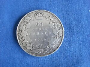 1934 50 FIFTY CENTS CANADA     E4