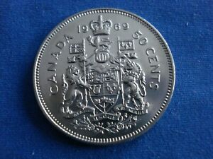 1969 50 FIFTY CENTS CANADA