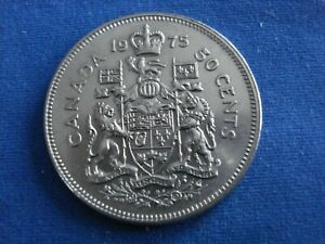1975 50 FIFTY CENTS CANADA