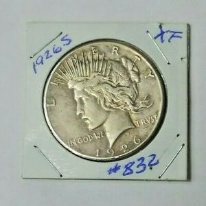 1926 S PEACE DOLLAR ABOUT XF 832