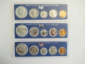 1965 1966 1967 US SMS  SPECIAL MINT SET  SILVER KENNEDYS ACRYLIC HOLDERS 2
