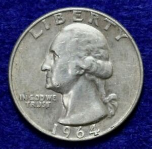 1964 D WASHINGTON QUARTER 40421964 D