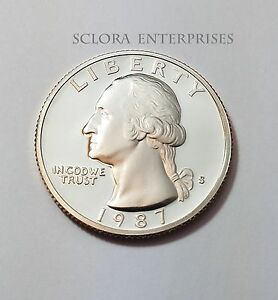 1987 S WASHINGTON  PROOF  QUARTER