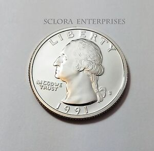 1991 S WASHINGTON  PROOF  QUARTER