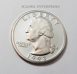 1993 S WASHINGTON  PROOF  QUARTER