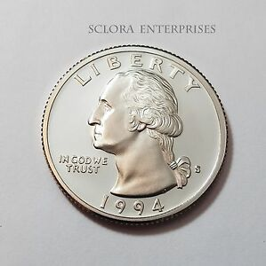 1994 S WASHINGTON  PROOF  QUARTER