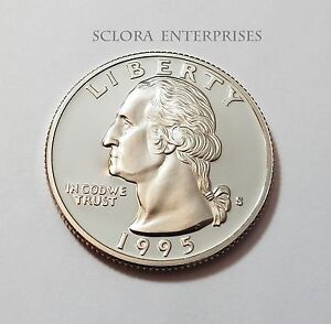 1995 S WASHINGTON  PROOF  QUARTER