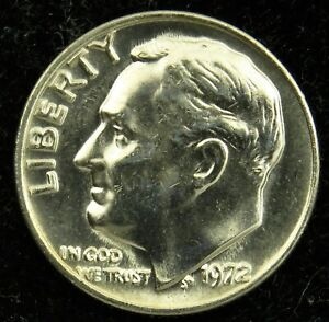 1972 P/&D Roosevelt Dimes in BU condition