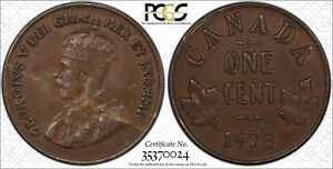 Canada 1926 Keydate Nice Grade Small Cent Penny.