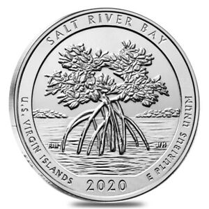 2020 5 OZ SILVER AMERICA THE BEAUTIFUL ATB SALT RIVER BAY U.S VIRGIN ISLANDS