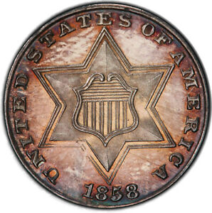 Click now to see the BUY IT NOW Price! 1858 3CS PCGS PR65 CAM CAC