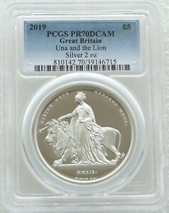 Click now to see the BUY IT NOW Price! 2019 GREAT ENGRAVERS UNA AND THE LION 5 SILVER PROOF 2OZ COIN PCGS PR70 DCAM