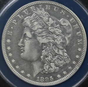 1895 O $1 MORGAN DOLLAR ANACS VF 30 DETAILS DAMAGED CLEANED
