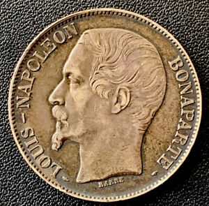 FRANCE 5 FRANCS 1852 A   SILVER COIN VF