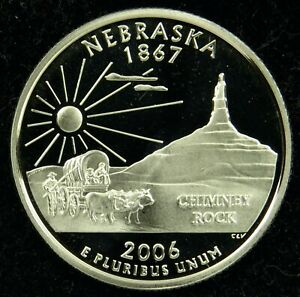2006 S DEEP CAMEO CLAD PROOF NEBRASKA STATE QUARTER  C02