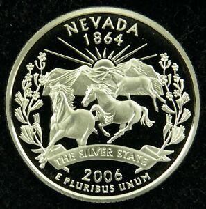 2006 S DEEP CAMEO CLAD PROOF NEVADA STATE QUARTER  C01