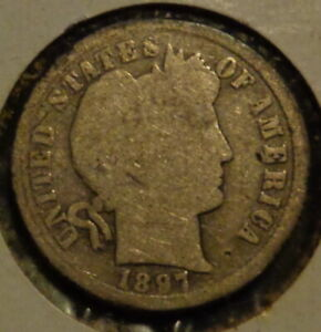 1897 S/S BARBER DIME STRONG RPM EAST