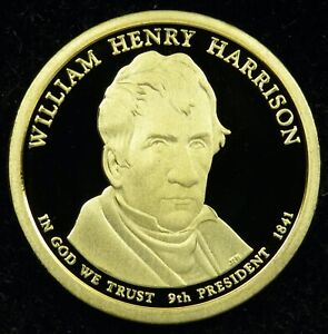 2009 S DEEP CAMEO PROOF WILLIAM HENRY HARRISON PRESIDENTIAL DOLLAR  C02