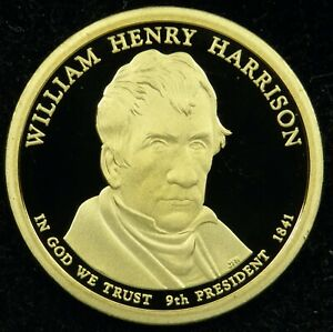 2009 S DEEP CAMEO PROOF WILLIAM HENRY HARRISON PRESIDENTIAL DOLLAR  C03