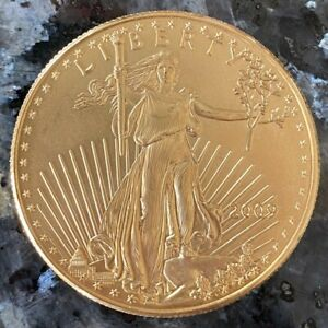 2009 $50 FIFTY DOLLAR LIBERTY 1 OZ GOLD COIN   22KT GOLD