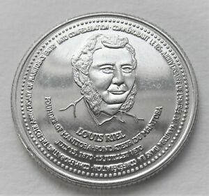 1995 LOUIS RIEL MEDAL   FATHER OF CONFEDERATION MANITOBA CANADA   NOT A DOLLAR