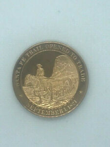 FRANKLIN MINT HISTORY OF THE US BRONZE MEDAL 1821 SANTA FE TRAIL OPENED TO TRADE