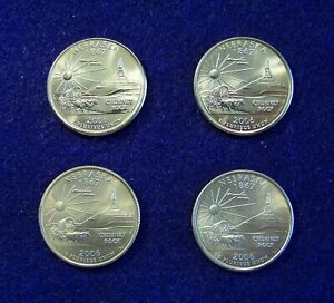 2006 P & D  NEBRASKA STATE QUARTER SET 25C.  BU & SATIN