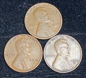 1930 P D S LINCOLN WHEAT PENNIES   1