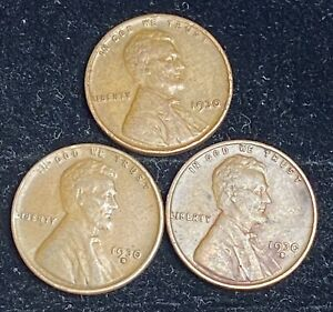 1930 P D S LINCOLN WHEAT PENNIES   2