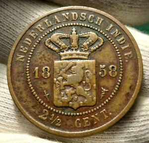 1858  2 1/2 CENT NETHERLANDS EAST INDIES