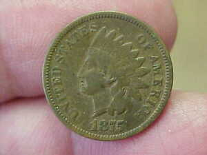 1875 INDIAN HEAD CENT PENNY FULL RIM DATE LIBERTY SHIELD WREATH TONED