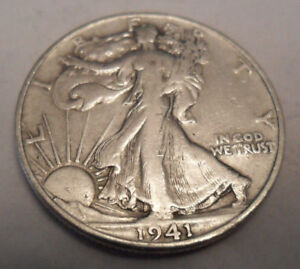 1941 S WALKING LIBERTY HALF DOLLAR  AG OR BETTER   90  SILVER