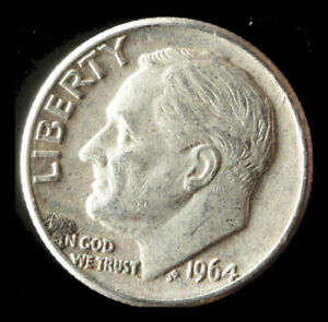 1964 D ROOSEVELT 90  SILVER DIME SHIPS FREE. BUY 5 FOR $2 OFF
