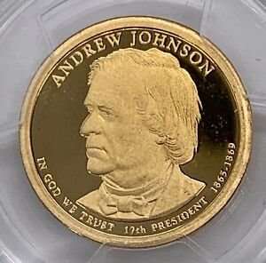 2011 S PRESIDENTIAL $1 FIRST STRIKE ANDREW JOHNSON PCGS PR69DCAM