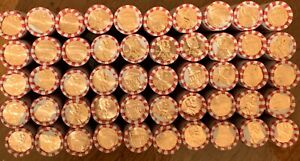 NEW 2020 P LINCOLN SHEILD CENT FULL BOX 50 ROLLS UNCIRCULATED UNC MINT PENNIES