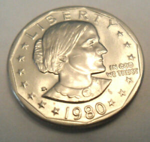 1980 D SUSAN B ANTHONY  SBA  DOLLAR COIN