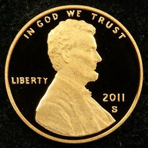 2011 S DEEP CAMEO PROOF LINCOLN SHIELD CENT  C01