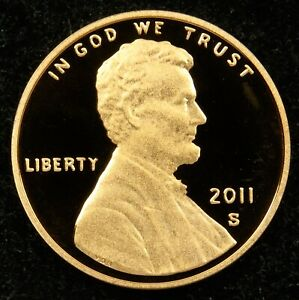 2011 S DEEP CAMEO PROOF LINCOLN SHIELD CENT  C02