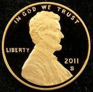2011 S DEEP CAMEO PROOF LINCOLN SHIELD CENT  C03