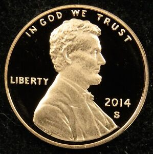 2014 S DEEP CAMEO PROOF LINCOLN SHIELD CENT  C01