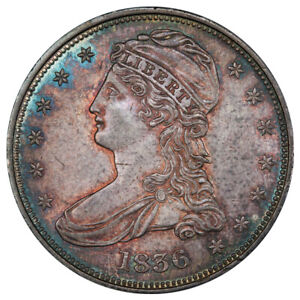 Click now to see the BUY IT NOW Price! 1836 50C REEDED EDGE GR 1 R.2 PCGS MS63