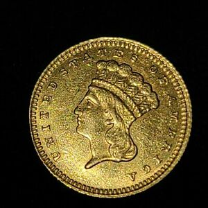 1883 INDIAN DOLLAR GOLD COIN  G$1     DATE COIN   LOW MINTAGE  AUTHENTICATED