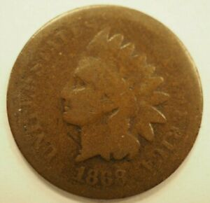 1868 INDIAN HEAD CENT 1C 204