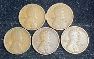 1915 D 1919 D LINCOLN WHEAT PENNY SET   2