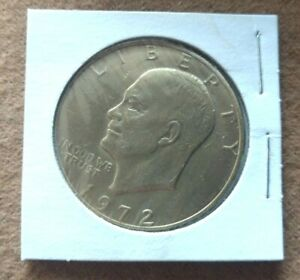 1972 US EISENHOWER IKE DOLLAR GOLD PLATED DOLLAR COIN   EXCELLANT CONDITION