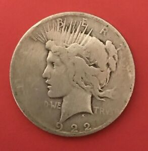 1922 D SILVER LIBERTY PEACE DOLLAR US COIN CIRCULATED