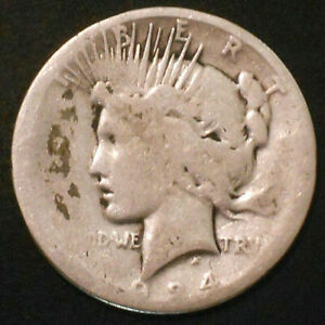 1924 S SILVER PEACE DOLLAR. LOW MINTAGE.
