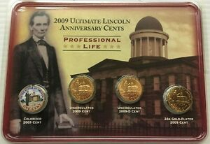 2009 ULTIMATE LINCOLN ANNIVERSARY CENTS PROFESSIONAL LIFE   FREE SHIP