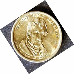 2009 WILLIAM H HARRISON PRESIDENTIAL AMERICAN LIBERTY ONE DOLLAR $1 COIN  GOLD